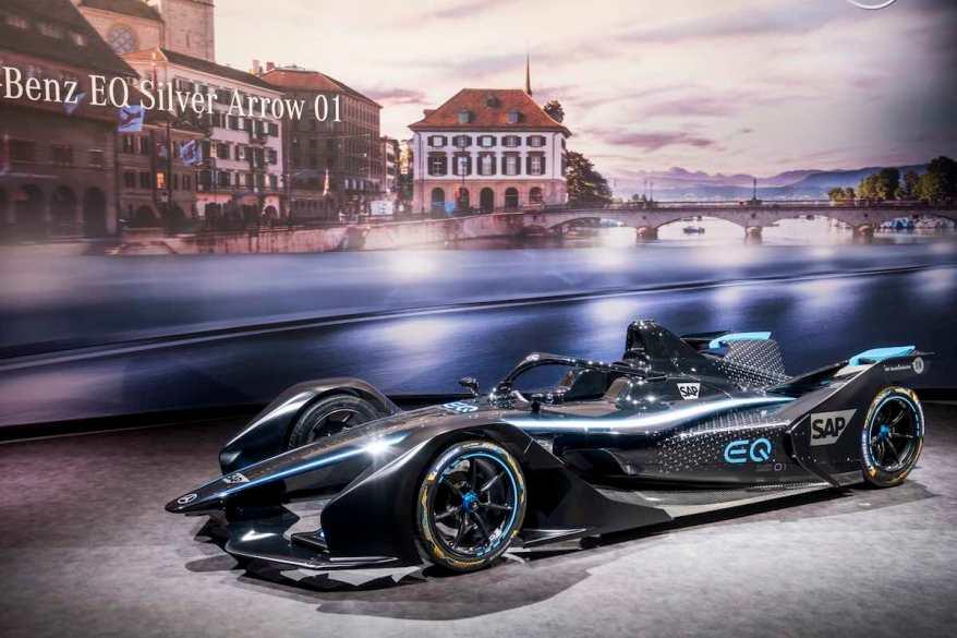 Mercedes-Benz EQ Silver Arrow 01,Genfer Automobilsalon 2019 - Teaser Car - Mercedes-Benz EQ Silver Arrow 01 (c)Mercedes