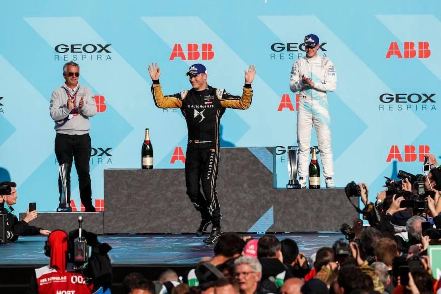 Andre Lotterer auf dem Siegerpodest (c)DS Deutschland