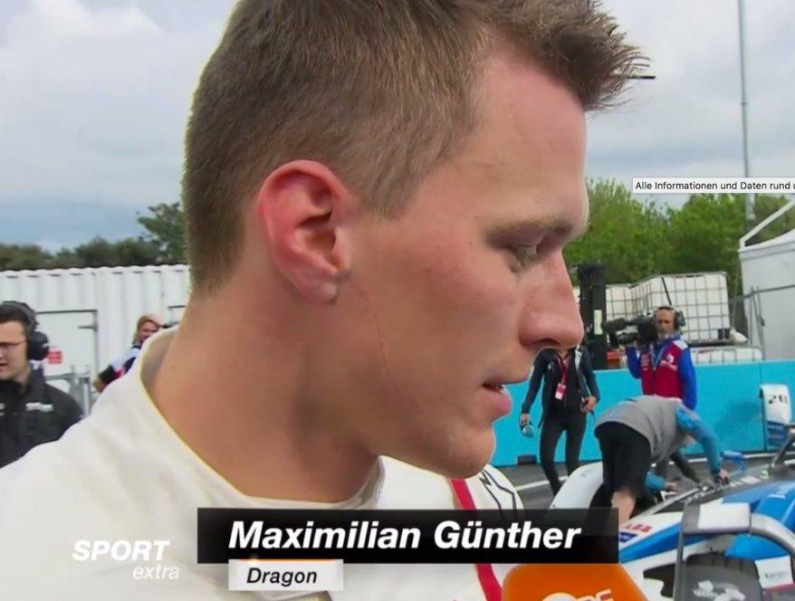 Max Günther im Interview mit dem ZDF (c)ZDF,FormulaE