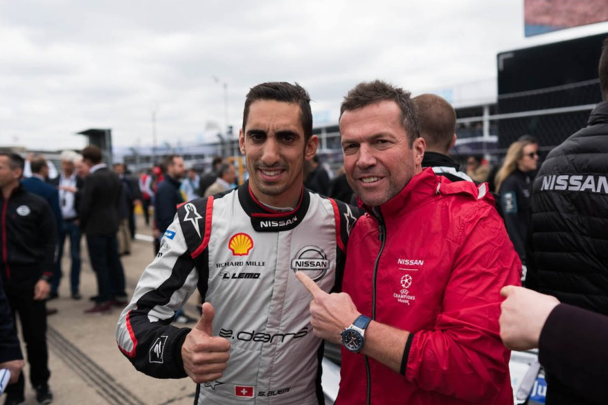 Sebastien Buemi und Lothar Matthäus am Grid Nissan Formula E - Berlin E-Prix ©Nissan
