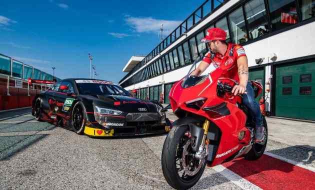 Andrea Dovizioso / Ducati Panigale V4 R, Audi RS 5 DTM ©Audi
