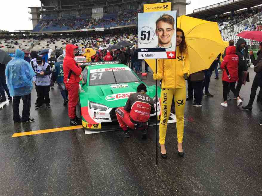 Nico Müller Audi am Grid Hockenheimring 2019 ©EHirsch