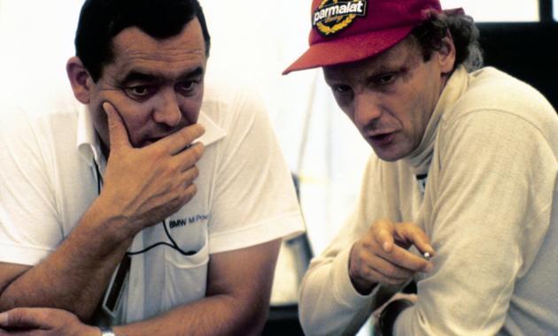 Paul Rosche und Niki Lauda ©Copyright by BMW AG