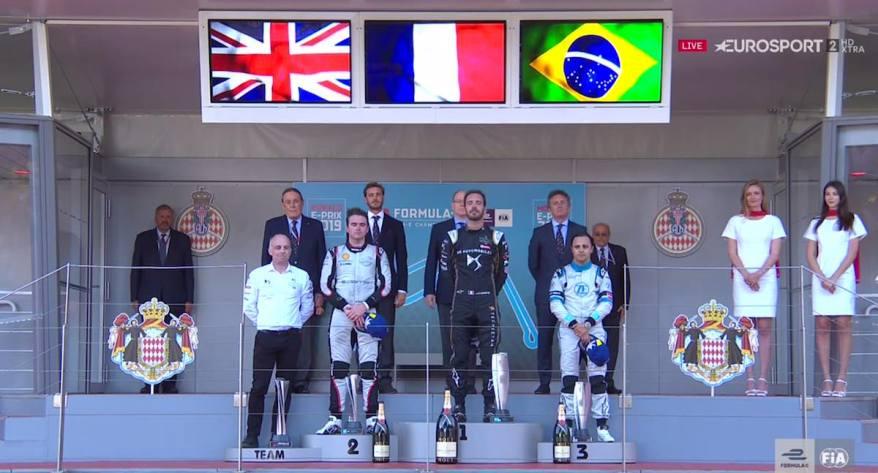 Siegespodest Monaco EPrix 2019©Eurosport