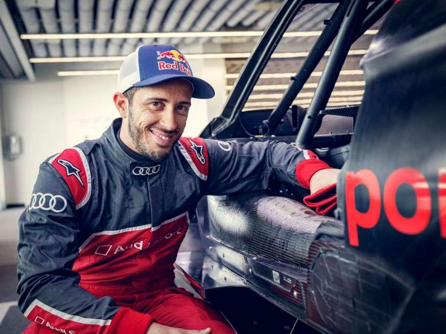 Andrea Dovizioso Audi Gaststart Misano ©Audi