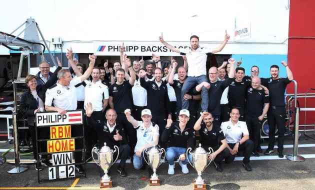 Philipp Eng feiert in Zolder Debütsieg DTM 2019 ©BMW