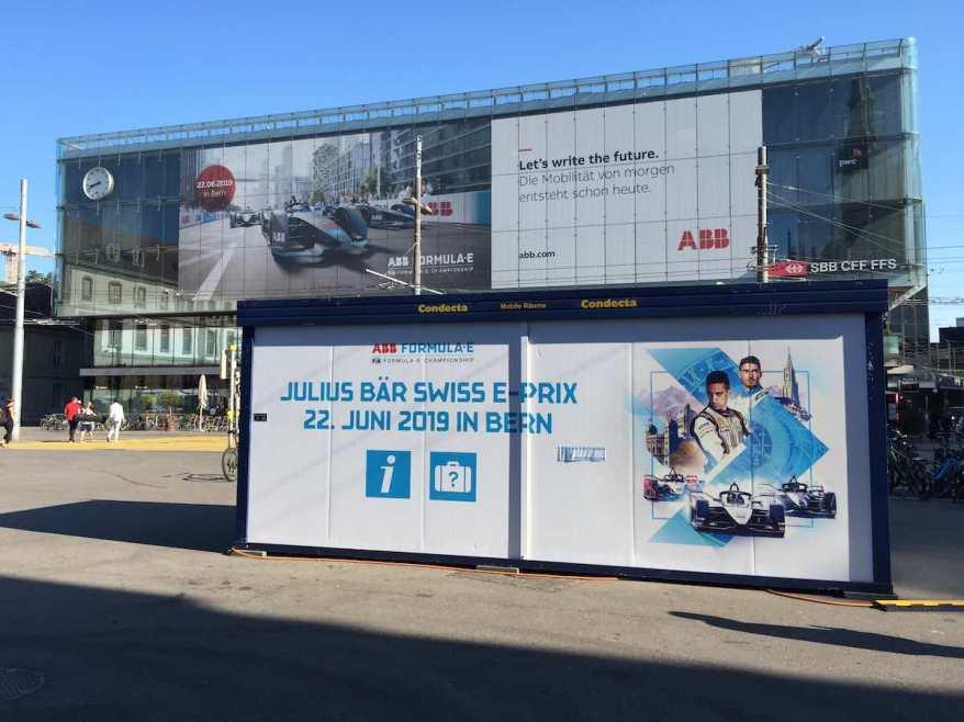 Swiss E-Prix Bern 2019 Hauptbahnhof Bern ©EHirsch