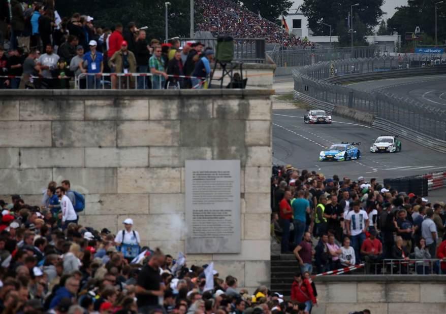 Frijns, Rockenfeller und Duval DTM Norisring 2018 ©Audi