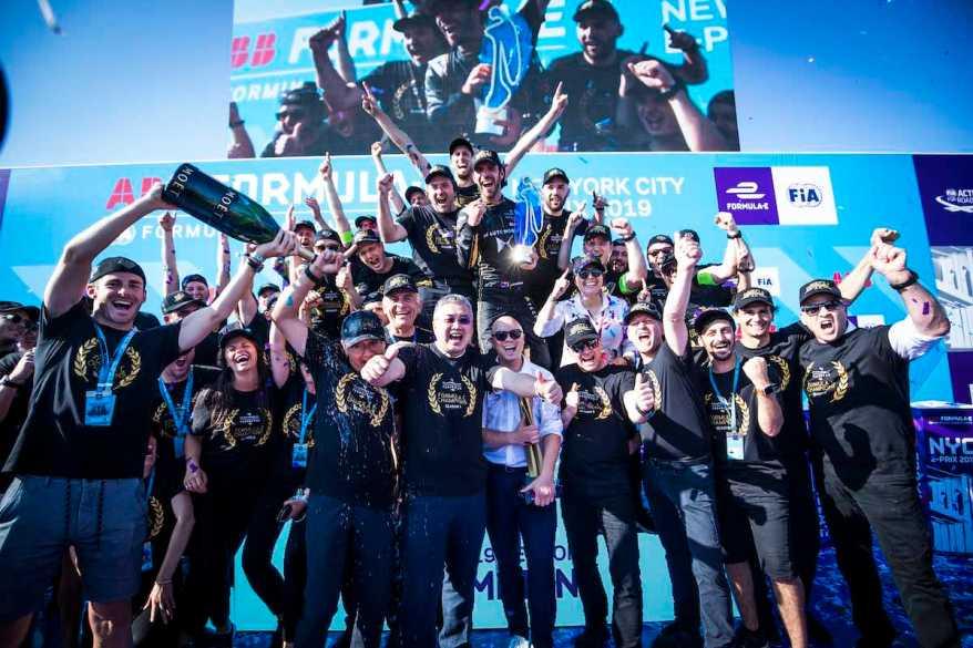DS Techeetah feiert den Gewinn in der Formel e ©DS Techeetah