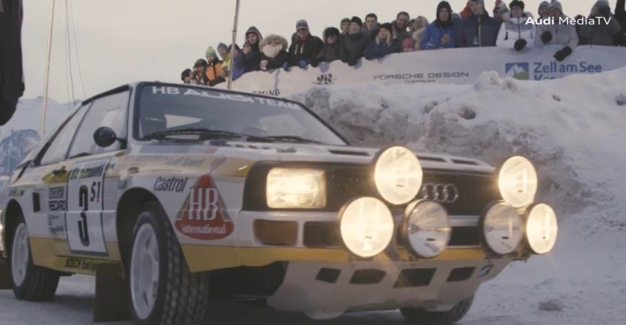 GP Ice Race:Walter Röhrl im Audi Quattro ©Audi