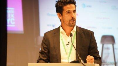 Lucas di Grassi speaks at Climate Week NYC ©Audi