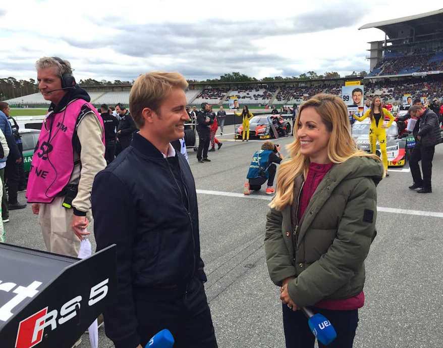 Nico Rosberg und Andrea Kaiser ©EHirsch