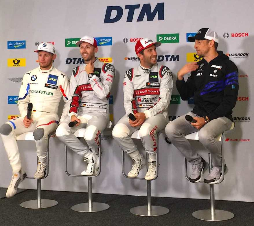Pressekonferenz mit Wittmann,Rast und Rockenfeller und Button in Hockenheim 2019 R1 ©EHirsch