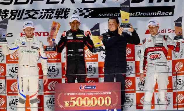 Marco Wittmann, Narain Karthikeyan, Loic Duval, SUPER GT x DTM Dream Race, Sunday, Race 2, Fuji Speedway © SUPER GT