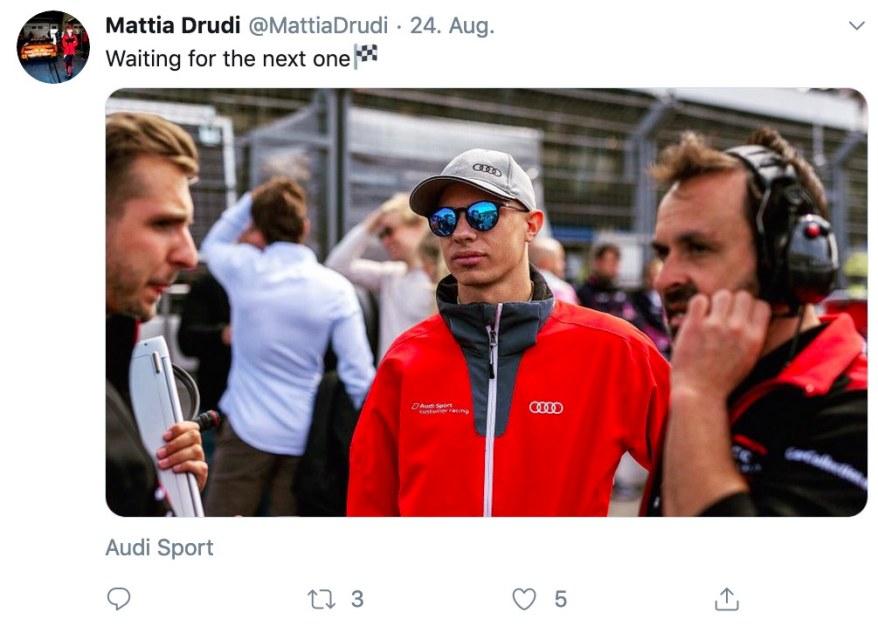 Tweet Mattia Drudi ©Twitter,Drudi