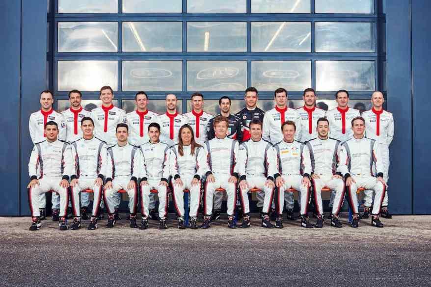 Porsche Werkskader 2020 ©Porsche