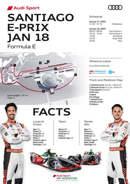 Race Facts,Formula E, Santiago E-Prix 2020 ©Audi