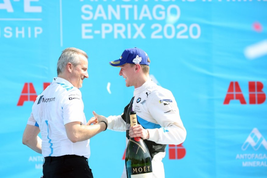 ens Marquardt (GER) BMW Motorsport Director and Winner Maximilain Günther (GER) ©BMW