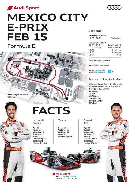 Race Facts,Formula E, Mexico City E-Prix 2020 ©Audi