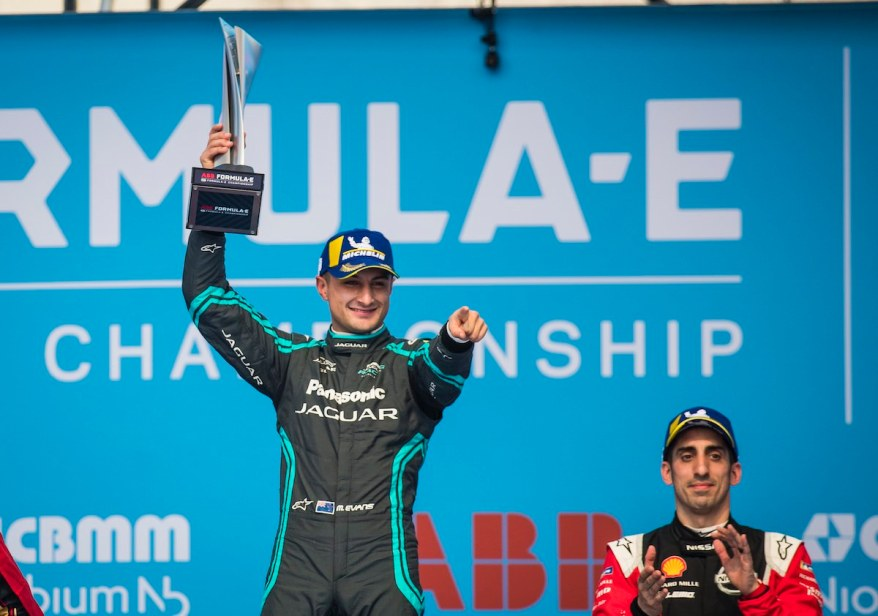 Race winner Mitch Evans, Jaguar ©Jaguar