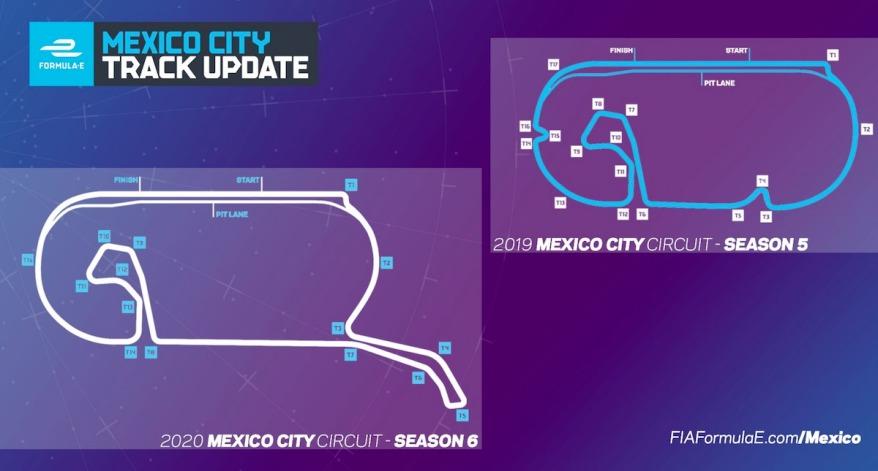 Strecke Mexico City E-Prix ©FIAFormulaE (Twitter)