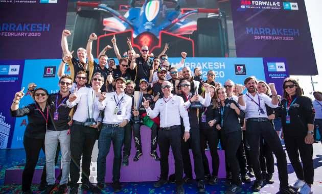 DS Techeetah Team feiert Doppelpodium Marrakesh E-prix 2020 ©DS Techeetah, Dom Romney / LAT Images