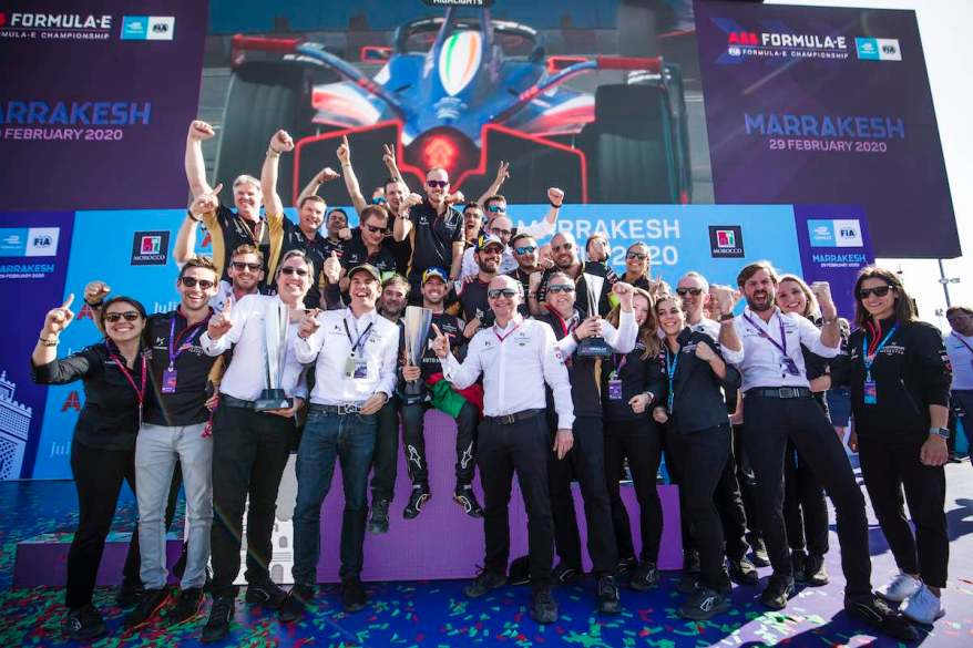 DS Techeetah Team feiert Doppelpodium Marrakesh E-prix 2020 ©DS Techeetah, Dom Romney / LAT Images