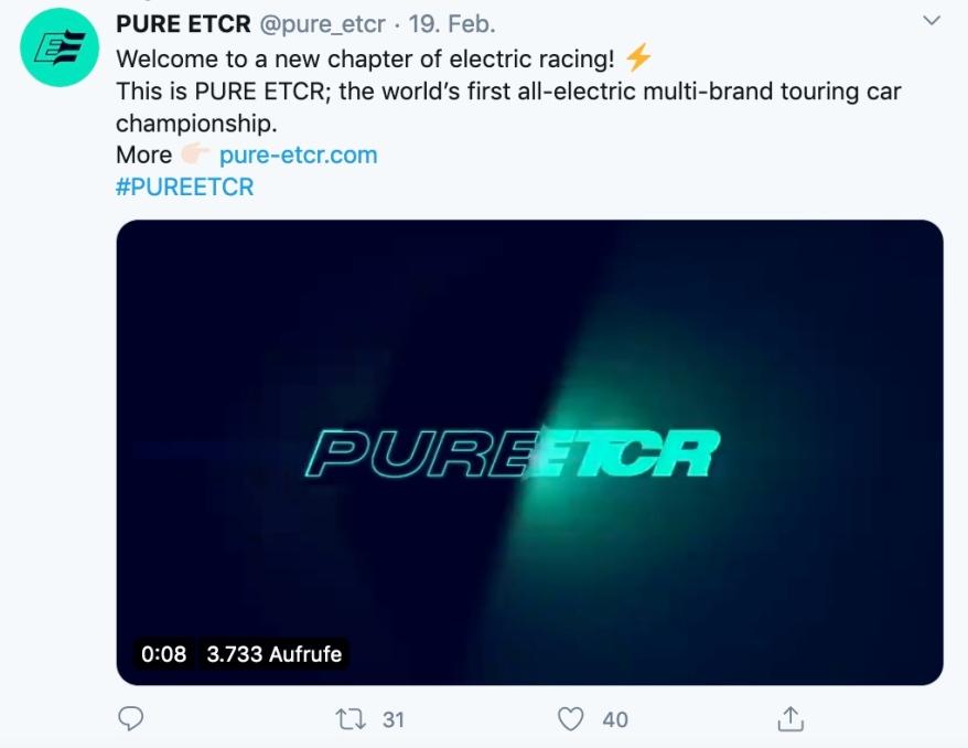 Pure ETCR ©Twitter, Pure ETCR