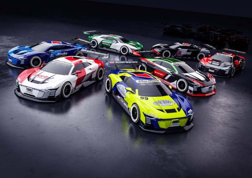 #RaceHome, Audi e-tron Vision Gran Turismo (Frijns, Duval, Rast, Müller, Green, Rockenfeller, Voigt) ©Audi
