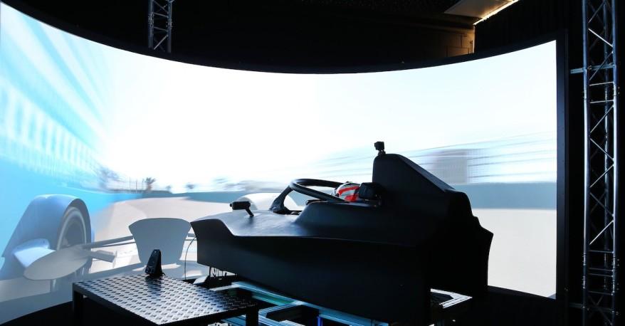 Munich (GER) 11th December 2018. BMW i Motorsport, Antinio Felx da Costa (POT) Formula E Simulator ©BMW