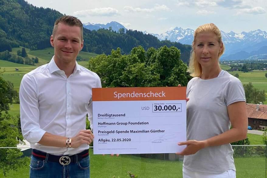 Günther und Heinrich Spendenübergabe©Günther