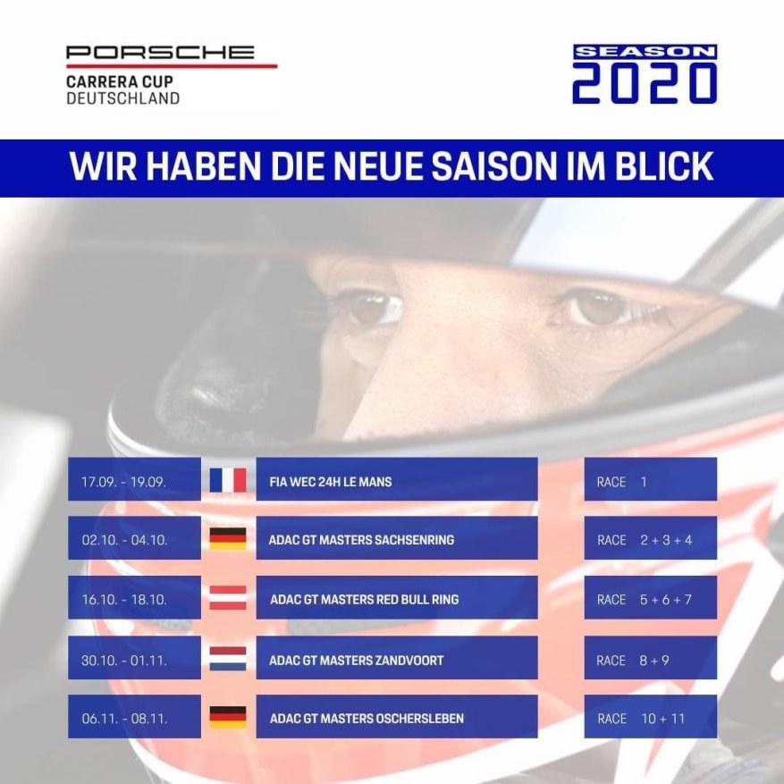 Porsche Carrera Cup D 2020 ©Porsche