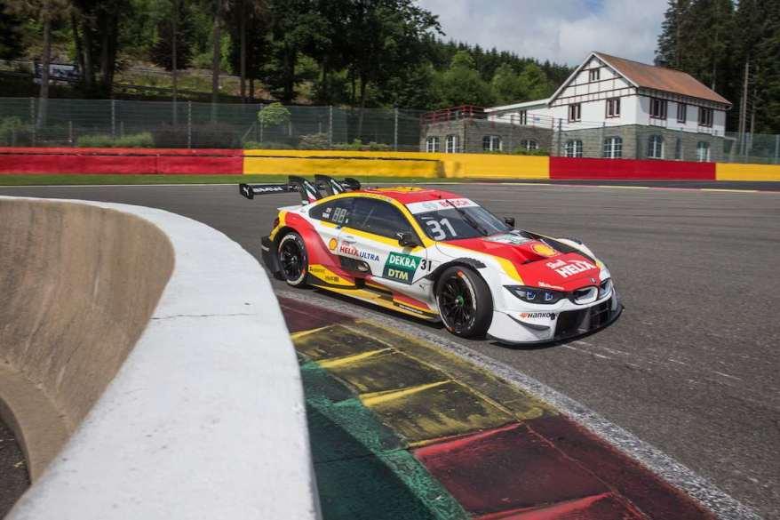 Augusto Farfus im BMW M4 DTM in Spa-Francorchamps, Herstellertest ©BMW
