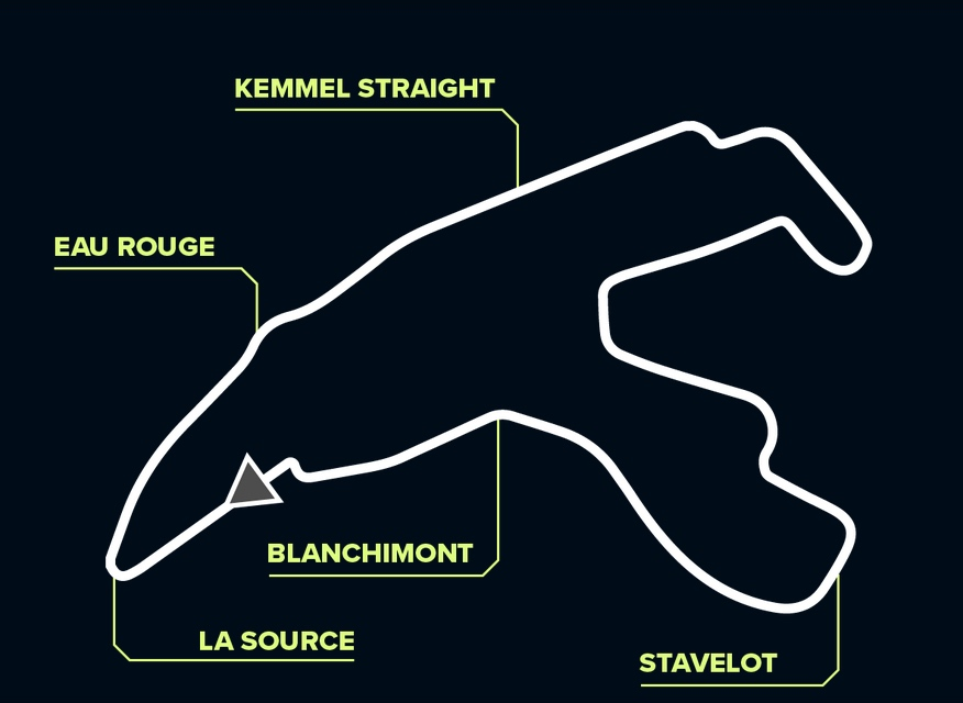 Layout Spa-Francorchamps ©DTM