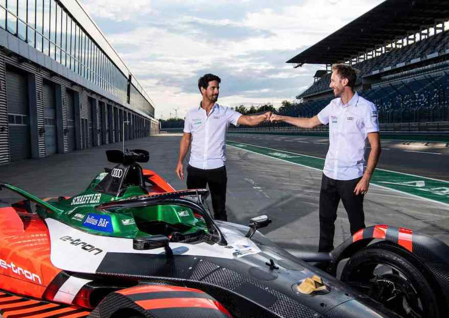 Lucas di Grassi, René Rast,Testfahrten Formel E, Lausitzring 2020 ©Audi