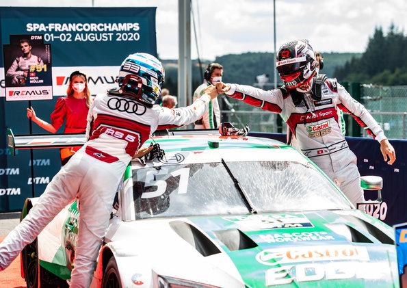 René Rast, Nico Müller, Audi,DTM Spa 2020 ©Audi