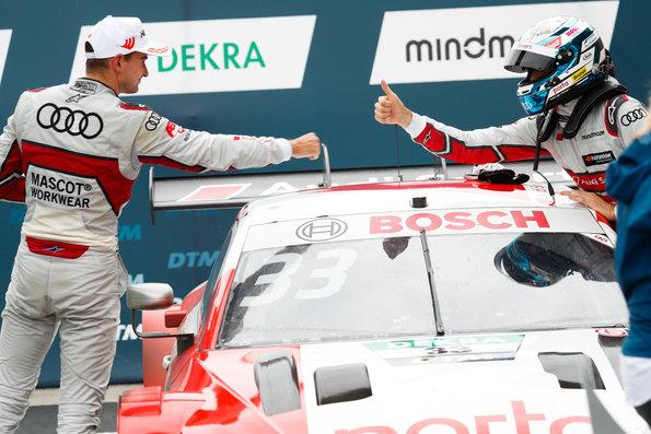Nico Müller, René Rast,DTM Lausitzring II 2020 (c)Audi