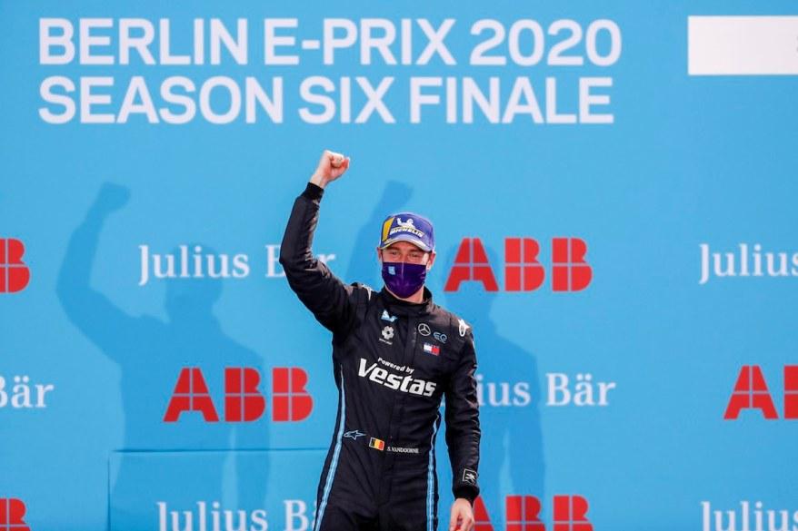Stoffel Vandoorne Mercedes Benz EQ, 1st position ©FiaFormulaE