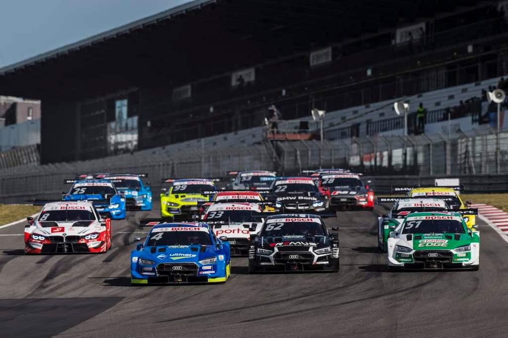 Start of the race, 4 Robin Frijns,DTM Nürburgring Sprint 2020 ©Audi