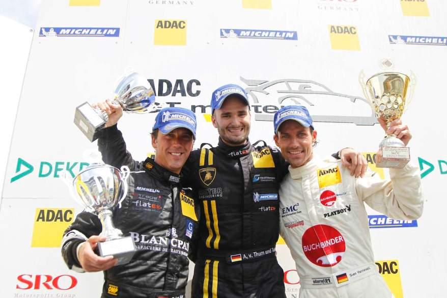 ADAC-GT-Masters-2010 mit Kox, Thurn und Taxis und Hannawald ©ADAC