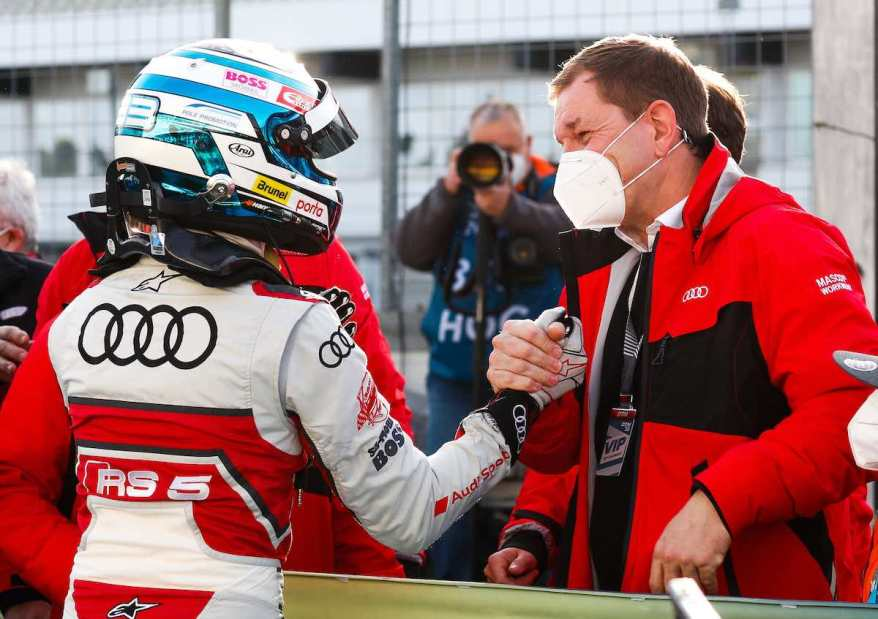 René Rast, Markus Duesmann,DTM 2020, Finale Hockenheim ©Audi