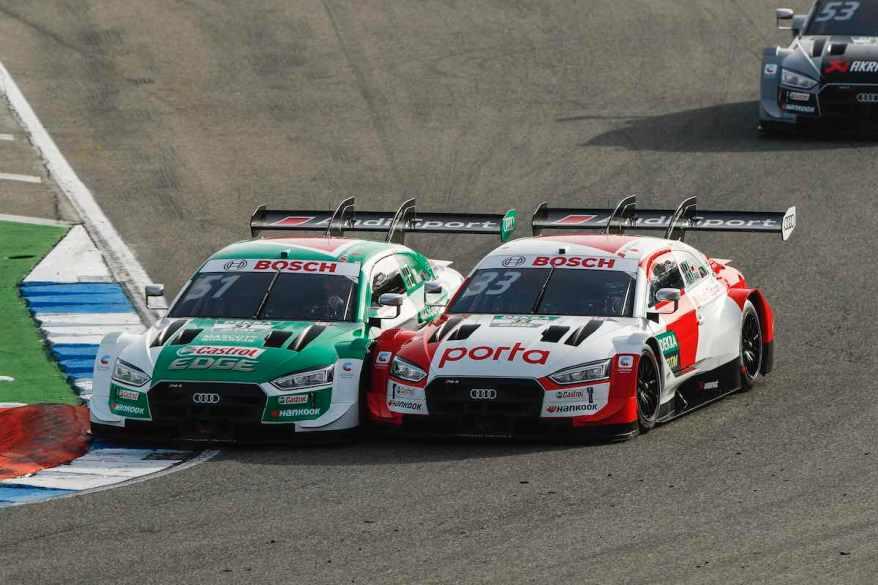 Müller gegen Rast,DTM Hockenheimring, 2020 ©DTM,Audi