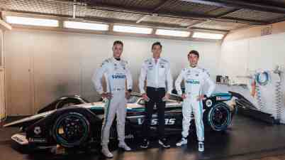 Mercedes Formel E Team Vandoorne, James und de Vries ©Mercedes,STR - Florian Roser