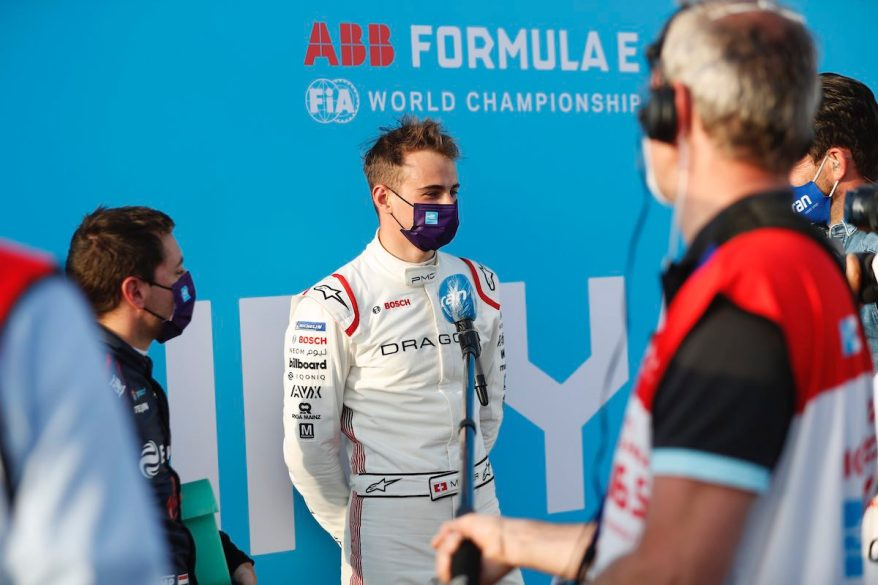 Nico Muller (CHE) Dragon Penske Autosport, is interviewed after Qualifying ©FIAFormulaE