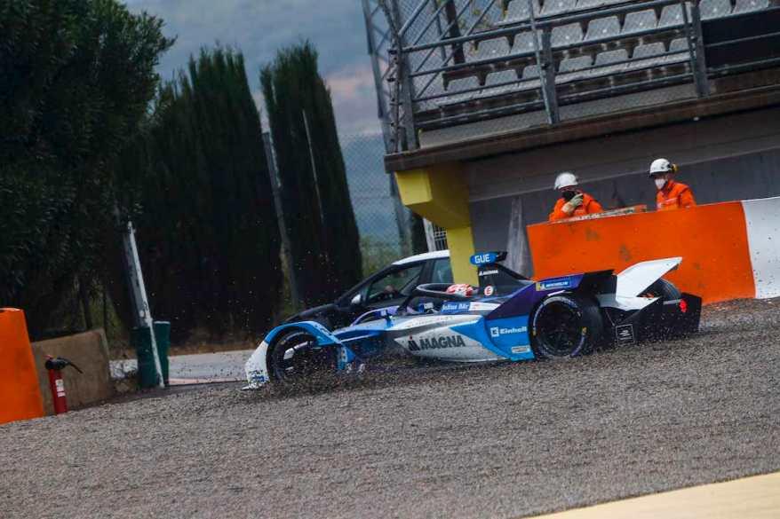 Max Gütnher im Kiesbett Valencia © FIA FormulaE