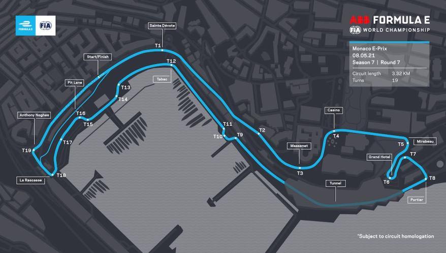 Monaco Circuit 2021 ©FiaFormulaE