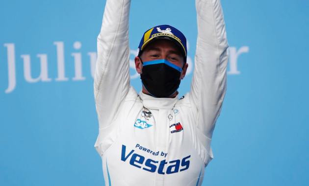 Stoffel Vandoorne (BEL), Mercedes Benz EQ, celebrates on the podium ©FIAFormulaE