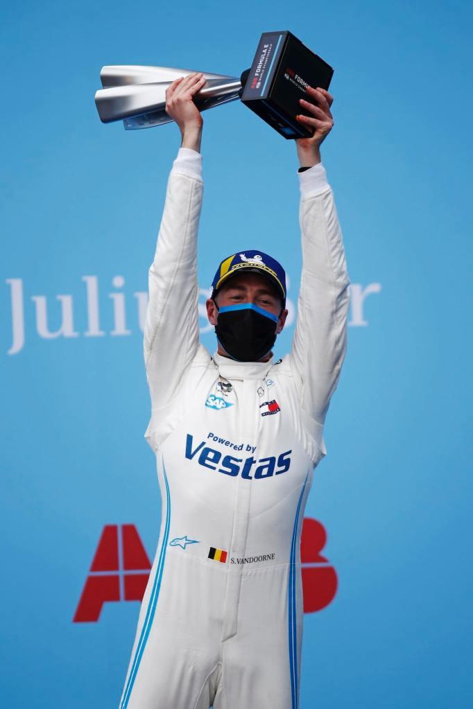 Stoffel Vandoorne (BEL), Mercedes Benz EQ, celebrates on the podium ©FIAFormulaE