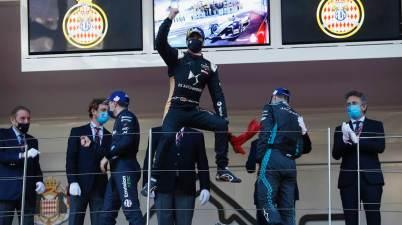A Felix da Costa jubelt Monaco E-Prix ©FIA FormulaE