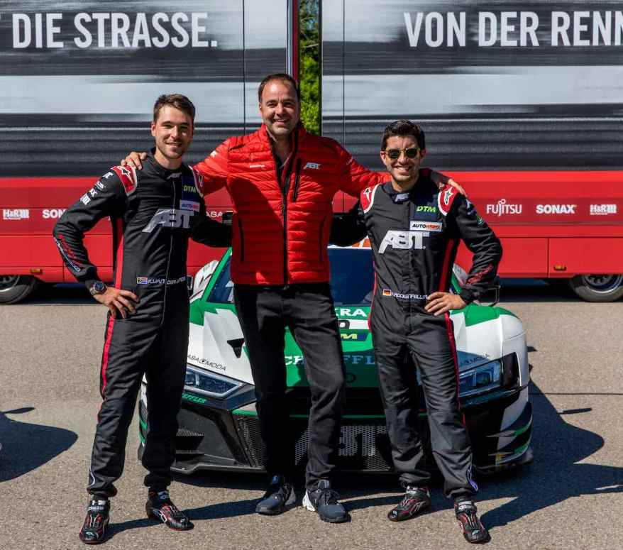 Thomas Biermaier, Kelvin van der Linde, Mike Rockenfeller, Audi ©ABT Sportsline